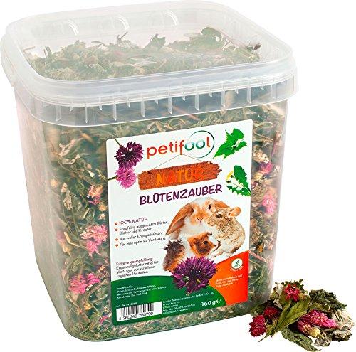"""petifool Nager-Ergänzungsfutter """"Blütenzauber"""", natürliches und gesundes Kaninchenfutter, 1er Pack (1 x 360 g)"""