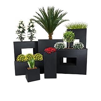 Pflanzwerk® Maceta Cube Tower Tub Divider Antracita Resistente a Las heladas* *Protección UV* *Calidad Europeo*