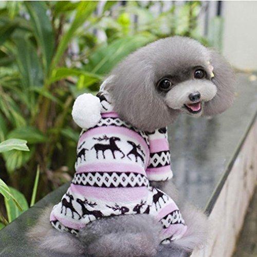 Ninasill ღ ღ Warme Kleidung Puppy Jumpsuit Hoodie Coat Casual XX-Large Rose (Besten Halloween-kostüme 20)