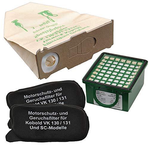 10 Staubsaugerbeutel ,1 Hepafilter ,2 Motorfilter geeignet für Vorwerk Kobold VK 130 131 FP 130 131