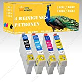 4 x Reinigungspatronen kompatibel zu EPSON 1631-1634 Workforce WF-2510 / WF-2510WF DISA