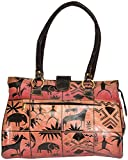 Exotic India Beige and Red Folk-Printed ...