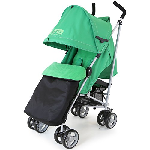 ZeTa Vooom Baby Stroller Leaf (Complete With Buddy Jet Footmuff)