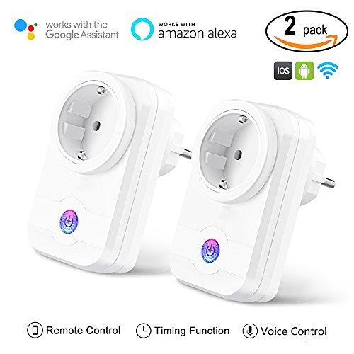 Smart Steckdose, MEER Intelligente Wifi WLAN Home Steckdosen inkl Zeitsteuerung Energiesparfunktion, App Fernbedienung für IOS und Android mit Amazon Alexa (Echo und Echo Dot, 2 Stück)