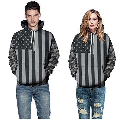 AMOMA Unisex Slim Fit 3D Digital Bedruckte Sweatshirt Kapuzenpullover Hoodies Flagge
