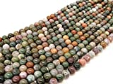 Beads Ok, DIY, Fantasia/Indiano Ágata, Genuino, Natural, 8mm, Abalorio, Cuenta,...