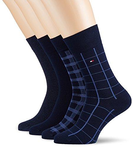 Tommy Hilfiger Herren Socken TH Men Cabin Box 4P, 4er Pack, Blau (Dark Navy 322), 43/46 (Herstellergröße: 043)