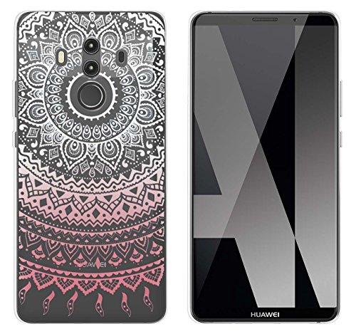 yayago Hülle für Huawei Mate 10 Pro/Mate 10 Pro Dual Silikon Schutzhülle Hülle Case Backcover Tattoo Ornament Mandala Design transparent Tasche