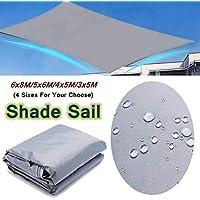 YLA Toldo de protección Solar Impermeable Toldo Sombrilla Sun SailBeach Camping Patio Pool Sun Canopy Carpa Shade, 5X6M