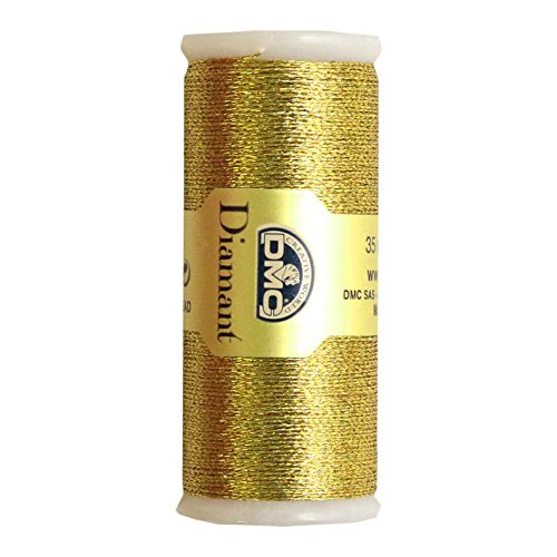Gold-metallic-thread (DMC Diamant Metallic Needlework Thread, 38.2-Yard, Dark Gold by DMC)