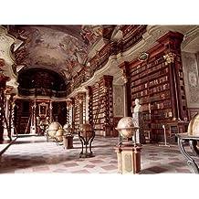 Feelingathome- IMPRESION-SOBRE-LIENZO-100%algodon-Biblioteca-Nacional-de-Praga-cm61x81-cuadro-reproduccion-en-lienzo-ENMARCADO
