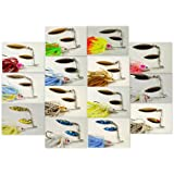 Akuna Elite Spinnerbaits Fishing Lures With Matching Silicone Skirts (Pack Of 14), 1/2-Ounce