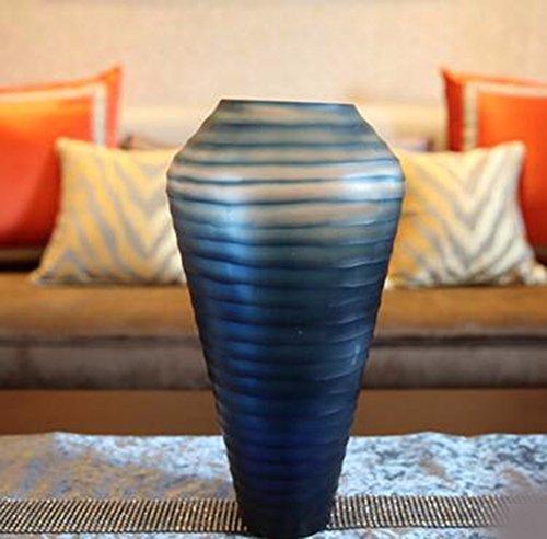 JRFBA European Style Living Room Decor Decoration Home Furnishing Blue Glass Vase Flower Set Decoration Creative Tv Cabinet,B
