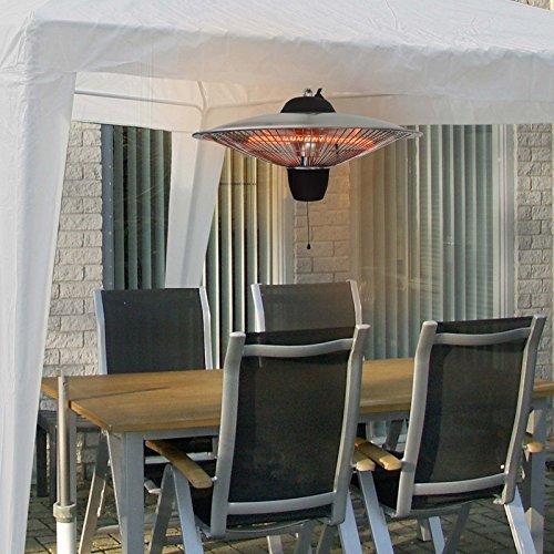 Deckenheizstrahler EUROM 1500, B-Ware (funktioniert einwandfrei), für Partyzelte, Gartenpavillions, einfach zu installieren und individuell einsetzbar