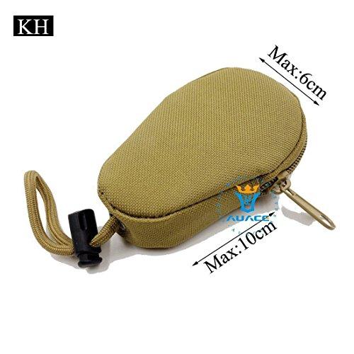Multifunzione Mini sopravvivenza Gear tattico Sacca Molle Pouch Coin Key Pouch, campeggio portatile Borse da viaggio Borse Strumento Borsa marsupio, BK KH