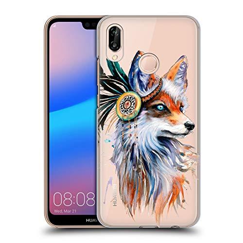 Head Case Designs Offizielle Pixie Cold Fuchs Tiere Ruckseite Hülle für Huawei P20 Lite