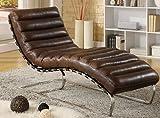 Phoenixarts Chaise Echtleder Vintage Leder Relaxliege Braun Design Recamiere Liege