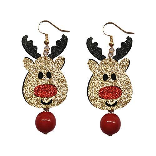 SMILEQ 1 Paar Modeschmuck Weihnachten Ohrringe Frauen Tropfen Baumeln Ohrringe Neujahr (B)