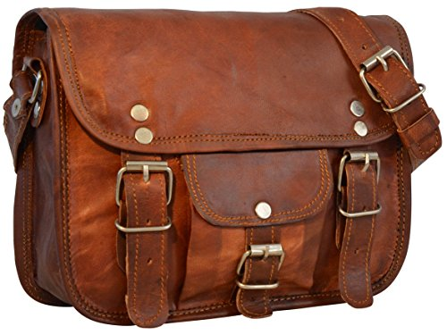 "- 512igyEn29L - Gusti Leder nature ""Emilia 7"" Genuine Leather Satchel Handmade Handbag Shoulder 7 Inch Laptop Everyday Bag Vintage Unisex Brown H3"
