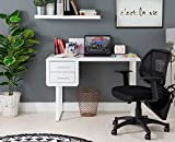 Gatsby White High Gloss 2 Drawer Desk Metal Legs - some imperfections
