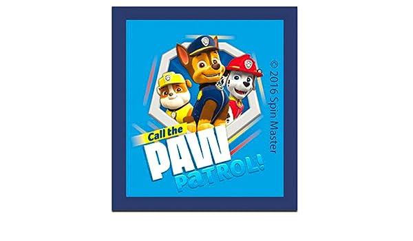 5,2x6,3cm Bügelbild PAW PATROL PAW PATROL IS ON A ROLL Aufnäher blau