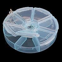 prosperveil Tragbare Runde Organizer Pille Box 7Slot Gesundheit Pille Box Case Medizin Drug preisvergleich bei billige-tabletten.eu