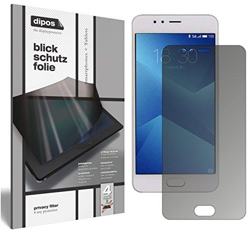 dipos I Blickschutzfolie matt passend für Meizu M5s Sichtschutz-Folie Bildschirm-Schutzfolie Privacy-Filter