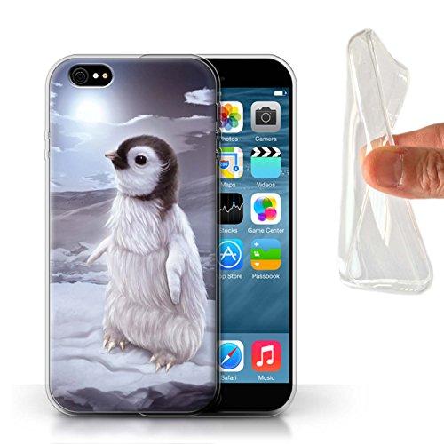 Officiel Elena Dudina Coque / Etui Gel TPU pour Apple iPhone 6S / Petit Panda/Bambou Design / Les Animaux Collection Le Voyageur/Manchot