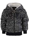 Jungen Kinder Hoodie Pullover Kapuzenpullover Sweatshirt Shirt Sweatjacke 22867, Farbe:Schwarz, Größe:116