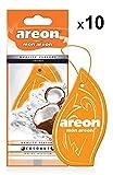 Areon Mon Ambientador Coche Coco Naranja Tropical Olor Casa Colgante Colgar Perfume Original Cartón Retrovisor Oficina 2D ( Coconut Pack de 10 )