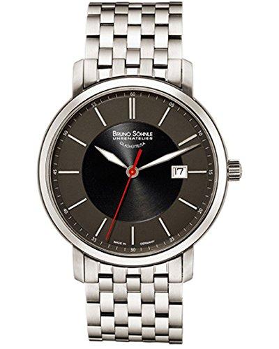 Bruno Söhnle Herren Analog Quarz Uhr mit Edelstahl Armband 17-13138-742