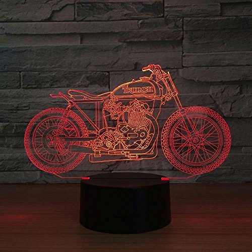 DGEG 3D Night Lights Nuovo Moto Remote Touch Illusion Scolorimento 3D LED Vision Stereo Lamp (Colore : Touch)