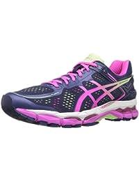 Zapato de running femenino Gel Kayano 22, Indigo Blue / Pink Glow / Pistachio, 7 M US