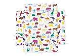 Pinolino 77529-0U - Laufgittereinlage universal, 'Happy Zoo'