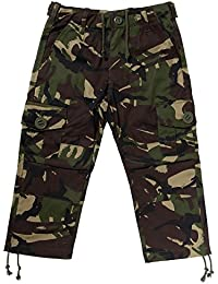 Kids Army Camouflage Combat Trousers - Ages 3-13 Yrs - Camo Combats