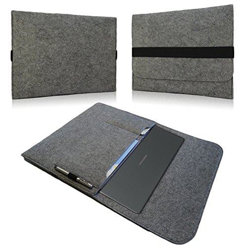 Notebook Sleeve Hülle Laptop Case Ultrabook Cover 15' Tasche Filz Cover Case , Farben:Hell Grau, Notebook:Medion Akoya E6424