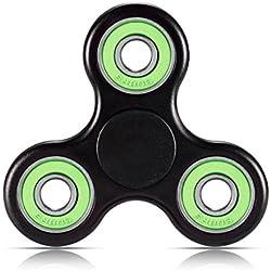 LANDFOX Fidget Hand Spinner Triángulo Metal dedo enfoque Toy TDAH autismo niños / adultos