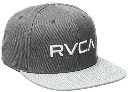rvca-mens-twill-snapback-hat-dark-grey-one-size