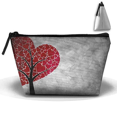 Trapez Tasche Kosmetiktasche Herz Baum Kosmetiktasche Reise Make-up Tasche ()