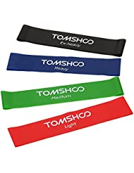 Bandes élastiques d'exercice TOMSHOO Bande Elastique Musculation Fitness Physical pour Bodybulding Exercices Yoga Pilate Rééducation Fitness Motrice Latex naturel