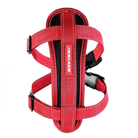EzyDog Classic Chest Plate Harness, Small, Red