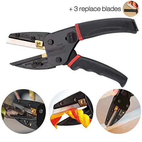 3-in-1-Schneidewerkzeug, Power Cutter mit Drahtschneider und Universalmesser, inkl. 3Ersatzklingen