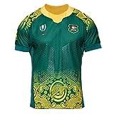 Équipe Australie, Maillot De Rugby, Coupe du Monde, Edition Extérieur, Nouveau Tissu Brodé, Vêtements De Sport De Butin (Vert, S)