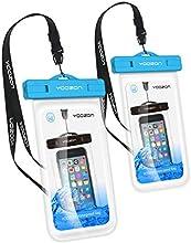 Funda Impermeable[2 Unidades], Yoozon Universal bolsa estanca bolsa seca sensible transparente táctil para dispositivos de hasta 6.0