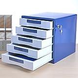 CHENGYI 5 Schichten Aktenschränke abschließbar Desktop Büro Metall Aktenschränke Schublade Schrank Daten Aufbewahrungsbox