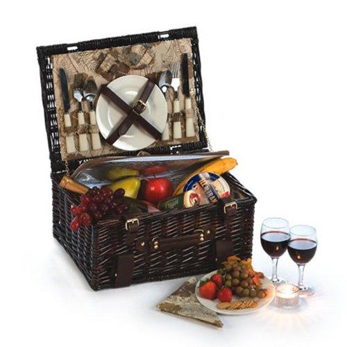 Picnic Plus Copley Picknickkorb für 2 Personen mit isoliertem Kühler