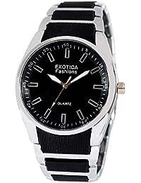 Exotica Black Dial Analogue Watch for Men (EFG-02-B)