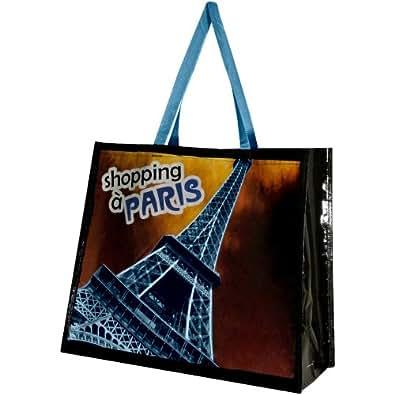 Paris -Sac Cabas Shopping Course Paris Chic Tour Eiffel Bleu