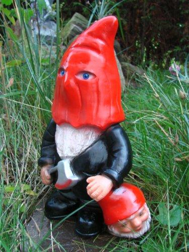 Gartenzwerg Henker aus bruchfestem PVC Zwerg Made in Germany Figur - 2