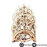 ROKR Kit de Construction en Bois 3D sans Colle Laser Cut Puzzles 3D Maquette Bois (Pendulum Clock)